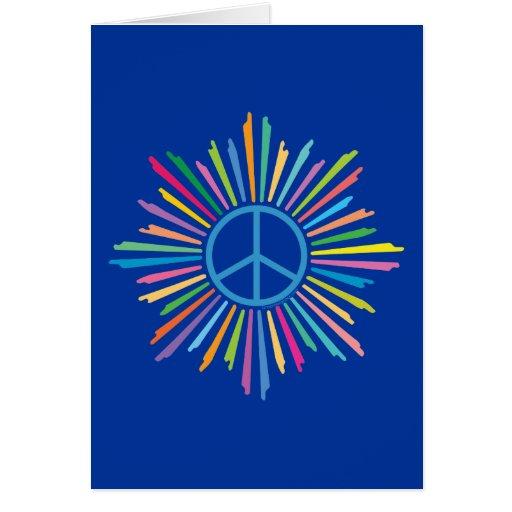 Símbolo del signo de la paz tarjeton