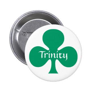 Símbolo del simbolismo de St Patrick del trébol de Pin Redondo 5 Cm