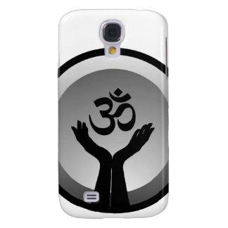 Símbolo del símbolo de OM del hinduism Funda Para Galaxy S4
