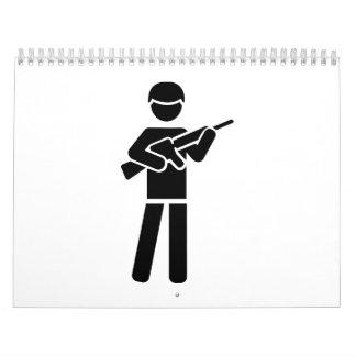 Símbolo del soldado calendario de pared