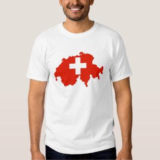 símbolo del suizo del mapa de la bandera de país playera