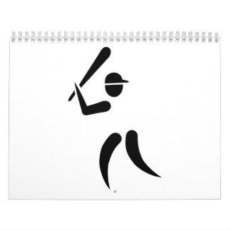 Símbolo del talud del béisbol calendarios