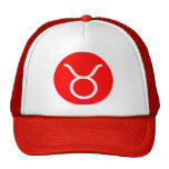 Símbolo del tauro gorras