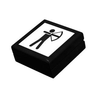 Símbolo del tiro al arco cajas de recuerdo
