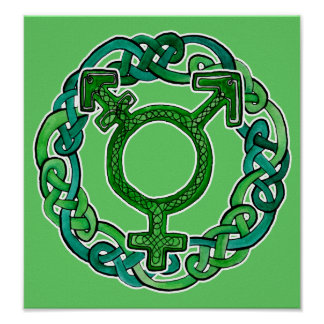 Símbolo del transexual de Knotwork Poster