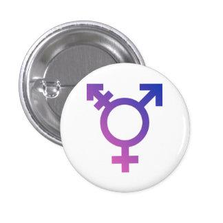 Símbolo del transexual pin redondo de 1 pulgada