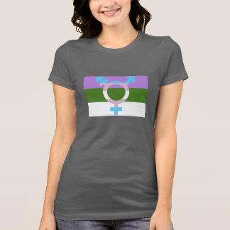 Símbolo del transporte de la bandera de Genderquee Camiseta