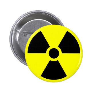 Símbolo del trébol de la radiación pin redondo 5 cm