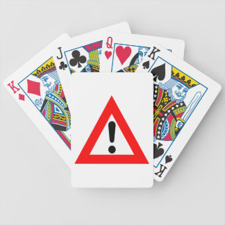 Símbolo del triángulo de la atención baraja de cartas