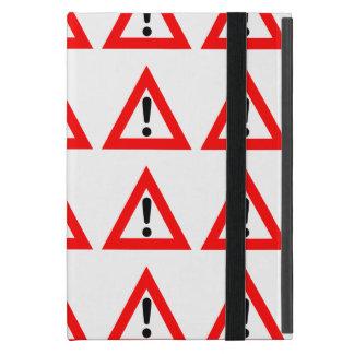 Símbolo del triángulo de la atención iPad mini fundas