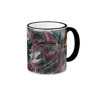 Símbolo del triángulo del fluorito taza de café