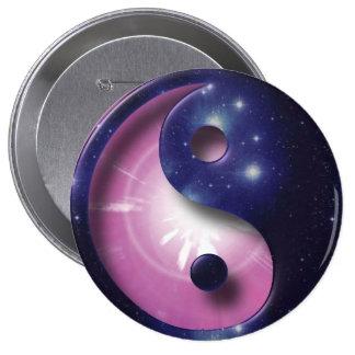 Símbolo del universo de Yin y de Yang Pins