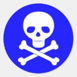 Símbolo del veneno pegatinas redondas