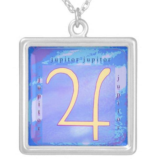 Símbolo del zodiaco de Jupitor Pendientes Personalizados
