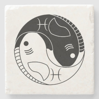 símbolo del zodiaco de la astrología de los posavasos de piedra