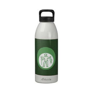 Símbolo del zodiaco de la astrología de PISCIS Botella De Agua Reutilizable