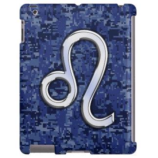 Símbolo del zodiaco de Leo en el camuflaje de Funda Para iPad