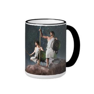 Símbolo del zodiaco de los géminis tazas de café