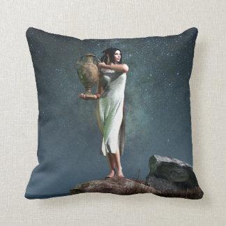 Símbolo del zodiaco del acuario almohadas