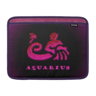 Símbolo del zodiaco del acuario funda macbook air