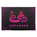 Símbolo del zodiaco del acuario mantel
