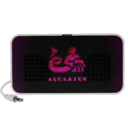 Símbolo del zodiaco del acuario mp3 altavoz