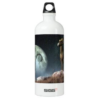 Símbolo del zodiaco del aries botella de agua