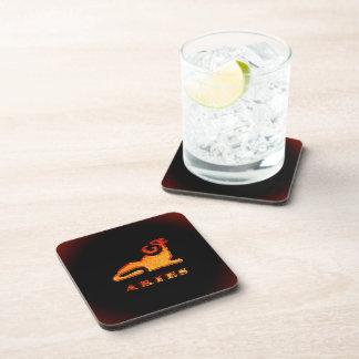 Símbolo del zodiaco del aries posavasos de bebidas