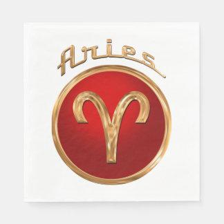 Símbolo del zodiaco del aries servilletas de papel