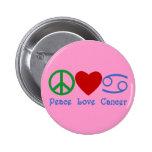 Símbolo del zodiaco del cáncer del amor de la paz pin