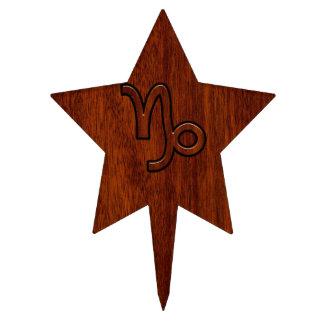 Símbolo del zodiaco del Capricornio en el estilo Decoración Para Tarta