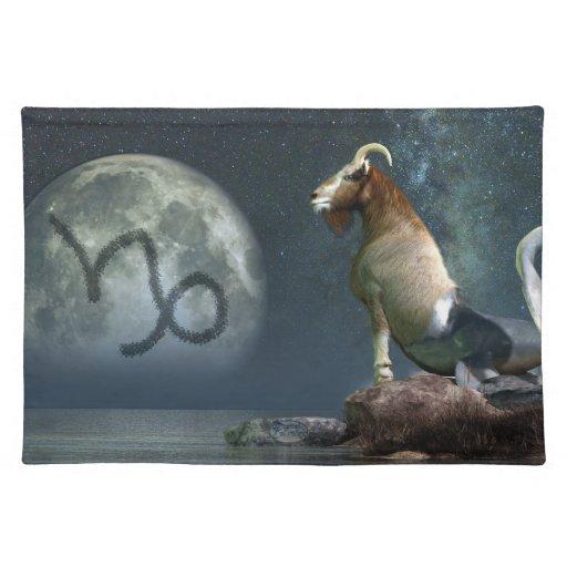 Símbolo del zodiaco del Capricornio Manteles