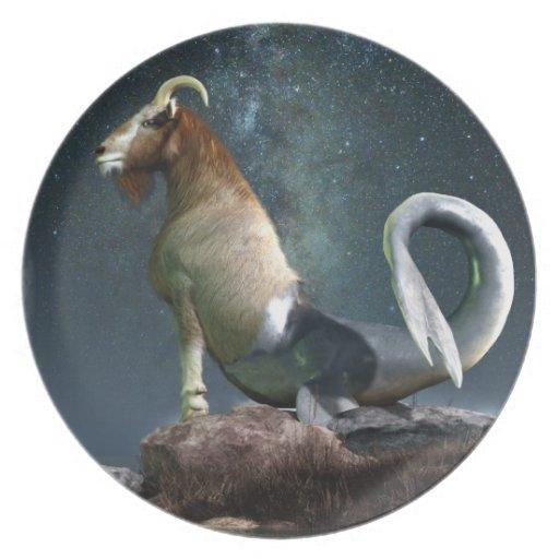 Símbolo del zodiaco del Capricornio Platos
