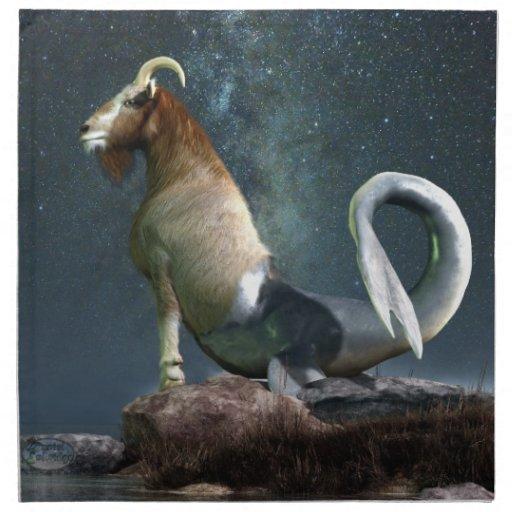 Símbolo del zodiaco del Capricornio Servilletas Imprimidas