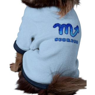 Símbolo del zodiaco del escorpión camiseta con mangas para perro