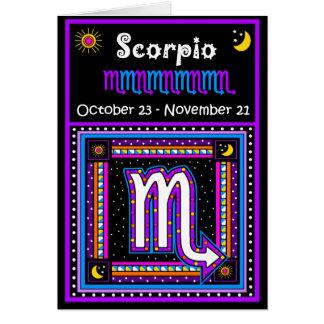 Símbolo del zodiaco del escorpión tarjeta de felicitación