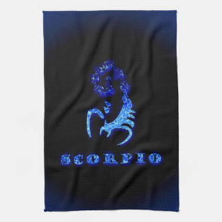 Símbolo del zodiaco del escorpión toalla de cocina