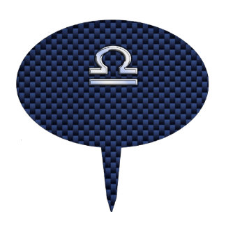 Símbolo del zodiaco del libra en fibra de carbono palillos de tarta