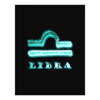Símbolo del zodiaco del libra flyer personalizado