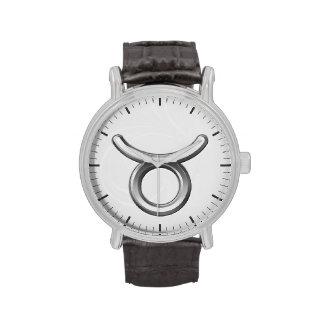 Símbolo del zodiaco del tauro - muestra fresca de relojes de pulsera