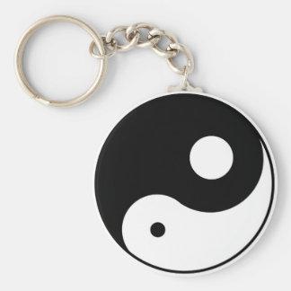 símbolo desequilibrado de yang del yin llaveros