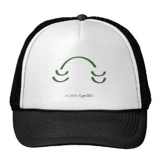 Símbolo divertido verde de SymTell Gorras