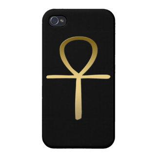 Símbolo egipcio cruzado de Ankh iPhone 4/4S Carcasa