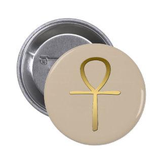 Símbolo egipcio cruzado de Ankh Pin Redondo 5 Cm