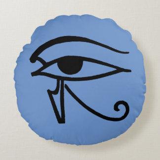 Símbolo egipcio: Utchat Cojín Redondo