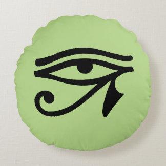 Símbolo egipcio: Wedjat Cojín Redondo