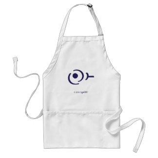 Símbolo egoísta púrpura de SymTell Delantal
