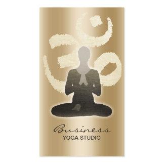 Símbolo elegante Namaste de OM del oro del Tarjetas De Visita