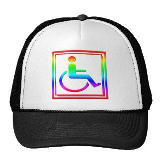 Símbolo elegante perjudicado multicolor gorras