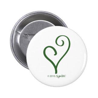 Símbolo enérgico verde de SymTell Pin Redondo De 2 Pulgadas